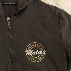 Brandy Melville zip-up hooded windbreaker